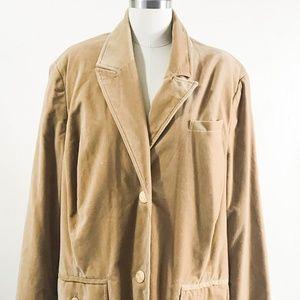 Old Navy Blazer Jacket Women's Size 3X Camel Tan